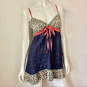 Avoca Anthology Linen Shoulder Strap Dress